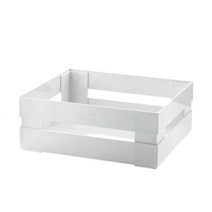 Bac en plastique Kitchen Active blanc 12 po l. x 4,5 po h. x 8,7 po p. de Guzzini