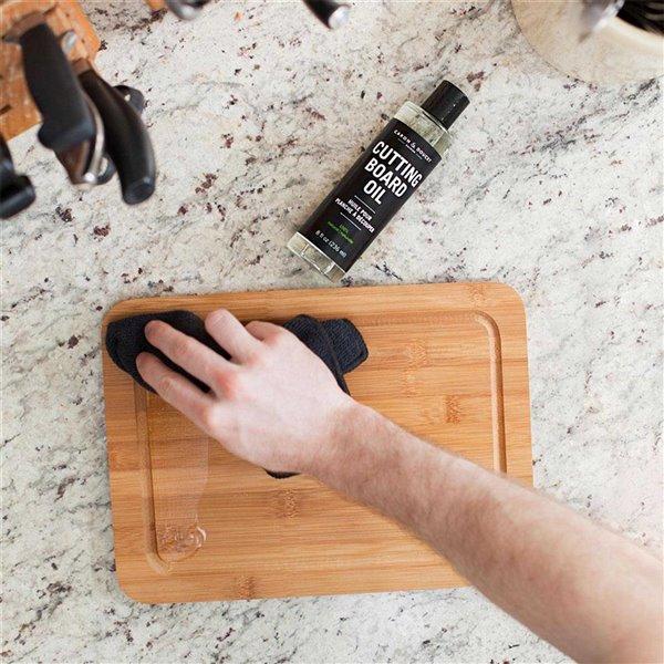 Ensemble d'huile et de cire pour planche à découper et bloc de boucher de Caron & Doucet, 2 pièces