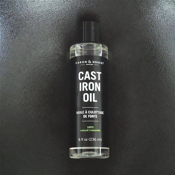 Huile de protection pour fonte de Caron & Doucet, 236 ml, 100% végétal