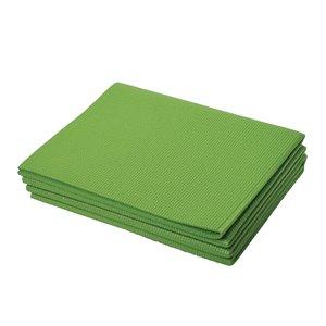 Tapis pliant de yoga antidérapant en plastique antimicrobien de Marin Collection, 24 po x 66 po, vert