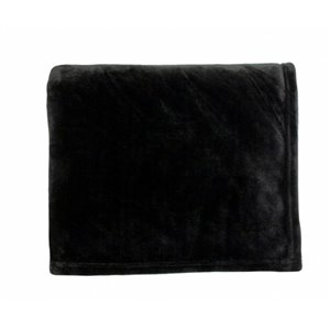 Couverture en polyester 50 po x 60 po, noir, par Marin Collection