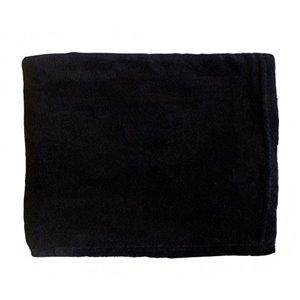 Couverture en polyester noir 43 po x 55 po par Marin Collection