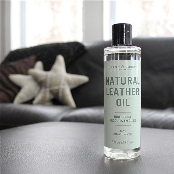 Huile nettoyante et hydratante pour cuir de Caron & Doucet, 236 ml, 100% naturel