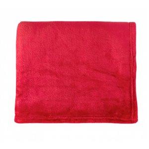 Couverture en polyester 50 po x 60 po, rouge, par Marin Collection