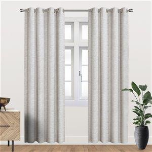 Panneau de rideau simple occultant gris pâle en polyester avec doublure thermique, 84 po, par Myne
