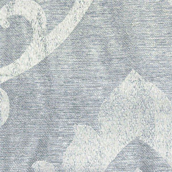 Panneau de rideau simple occultant bleu en polyester avec doublure thermique, 96 po, par Myne