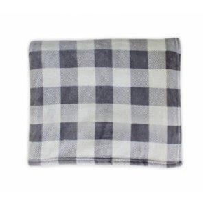 Couverture en polyester gris 60 po x 70 po par Marin Collection