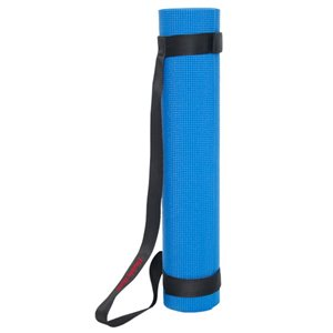 Marin Collection 24-in x 66-in Blue Antimicrobial Plastic/Non-Slip Yoga Mat with Carrying Straps