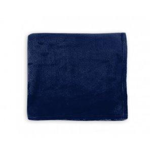 Couverture en polyester bleu marine 50 po x 60 po par Marin Collection