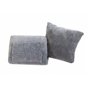 Couverture en polyester gris 50 po x 70 po par Marin Collection