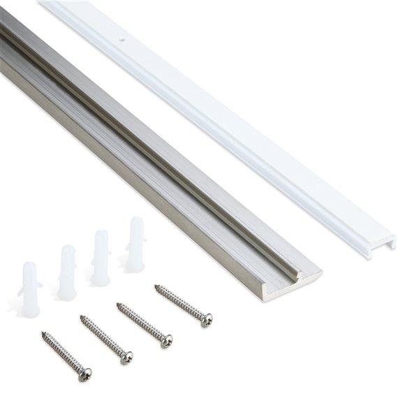 Moulures de SpeedTiles Trims en aluminium de 96 po l x 0,90 po L, acier inoxydable