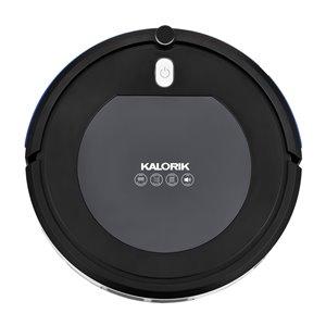 Aspirateur robot avec purificateur d'air ionique de Kalorik, noir et gris