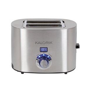 Grille-pain numérique à 2 tranches de Kalorik, 1350 W, acier inoxydable