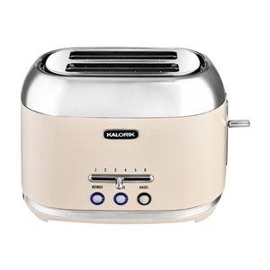 Kalorik 2-Slice Retro Cream 1000 W Toaster