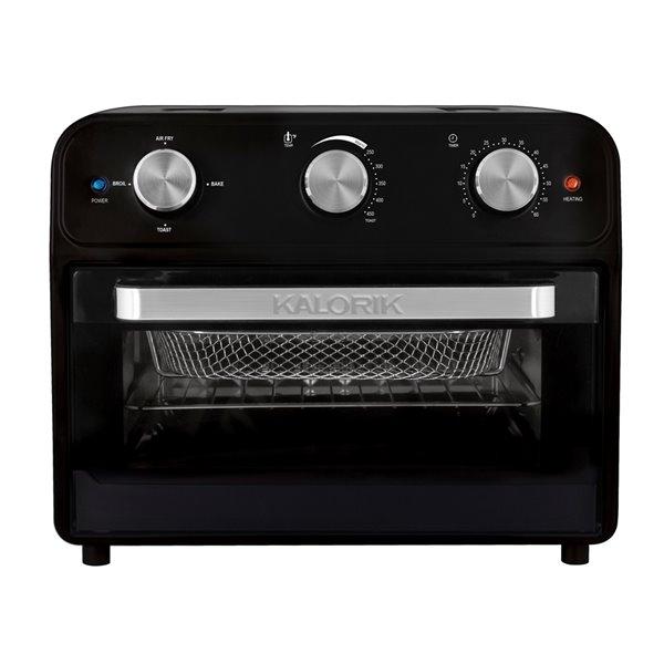 Friteuse à air chaud/grille-pain four de Kalorik, 22 L, noir