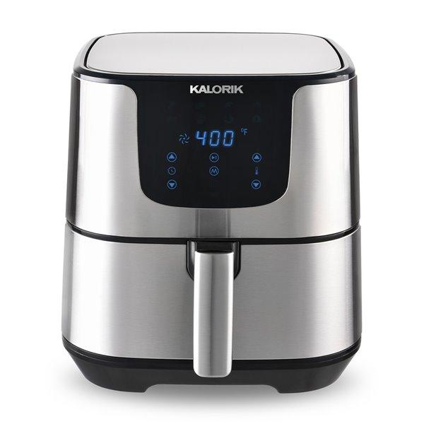 Friteuse à air chaud numérique de Kalorik, 6 L, acier inoxydable