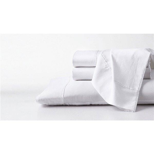 Ensemble de draps en coton pima pour grand lit par GhostBed, 4 mcx