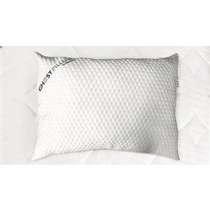 Oreiller pour lit très grand en mousse mémoire douce par GhostBed, paquet de 2