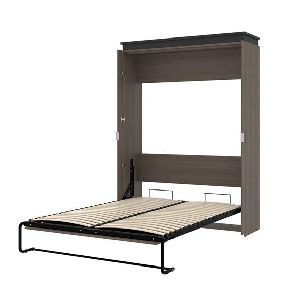 Bestar Orion Bark grey & Graphite Queen Murphy Bed