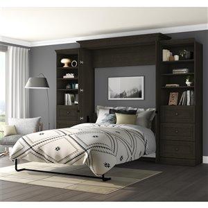 Bestar Versatile Deep Grey Queen Murphy Bed - Integrated Storage