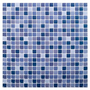 Truu Design 10-in x 10-in Self-Adhesive Blue/White Geometric Wall Decal