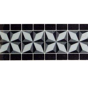 Décalque mural auto-adhésif géométrique noir par Truu Design, 12 po x 4 po