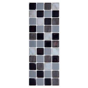 Décalque mural auto-adhésif géométrique noir par Truu Design, 10 po x 3,94 po