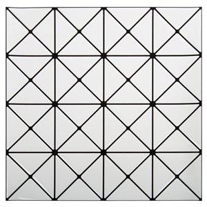 Décalque mural auto-adhésif géométrique blanc et noir par Truu Design, 10 po x 10 po