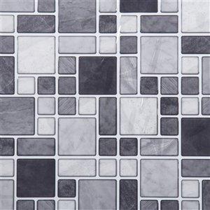 Décalque mural auto-adhésif gris pâle par Truu Design, 10 po x 10 po