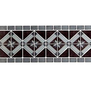Décalque mural auto-adhésif géométrique brun par Truu Design, 12 po x 4 po