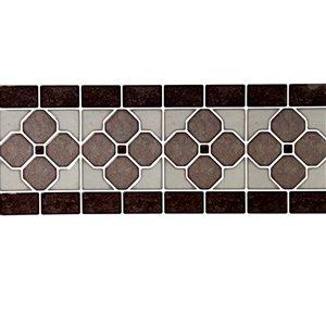 Décalque mural auto-adhésif géométrique brun et noir par Truu Design, 12 po x 4 po
