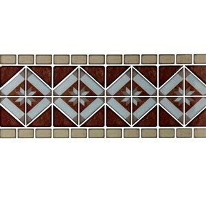 Décalque mural auto-adhésif géométrique cuivré par Truu Design, 12 po x 4 po