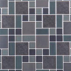 Truu Design 10-in x 10-in Self-Adhesive Grey Geometric Wall Decal