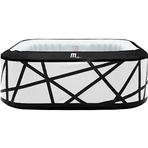 Mspa 6-person 132-jet Square Inflatable White Hot Tub