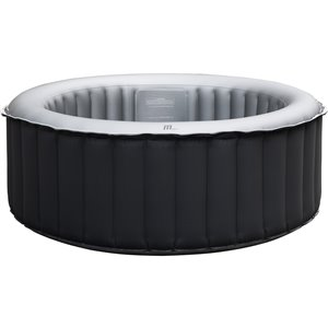 Mspa 4-person 118-jet Round Inflatable Charcoal Grey Hot Tub