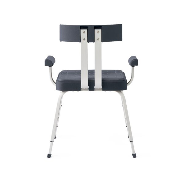 Chaise de douche autoportante grise en composite de Medline (conforme à l'ADA)