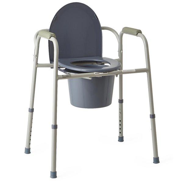 Chaise d'aisance de 21 po au siège à hauteur ajustable de Medline