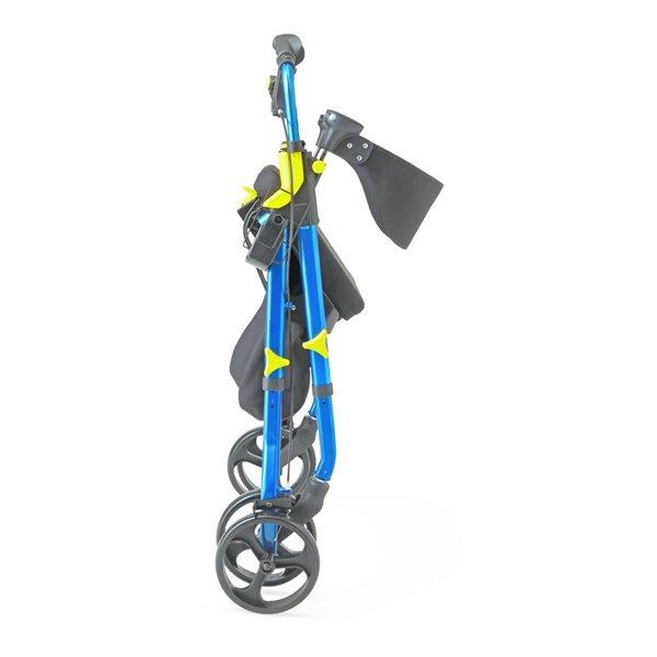 Déambulateur Empower bleu pliable/facile à ranger de Medline