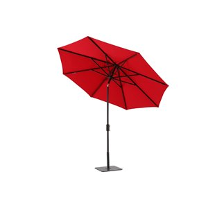 Modern Muse 10-ft Canvas Red Market Patio Umbrella Push-button