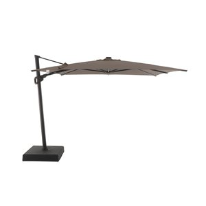 Modern Muse 10-ft Canvas Taupe Offset Patio Umbrella Crank