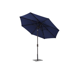Modern Muse Market Patio Umbrella Push-button 9-ft
