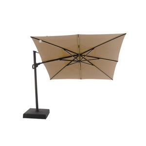 Modern Muse 10-ft Canvas Heather Beige Offset Patio Umbrella Crank