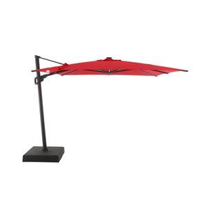 Modern Muse 10-ft Canvas Jockey Red Offset Patio Umbrella Crank
