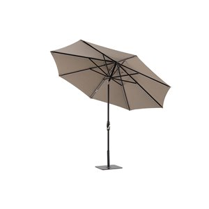 Modern Muse 8.24-ft Cast Shale Market Patio Umbrella Crank