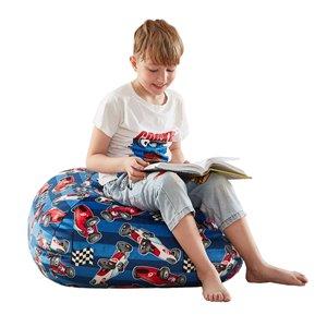 Loungie Pouf Blue Bean Bag Chair
