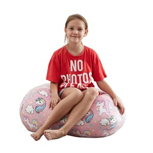 Loungie Pouf in Light Pink Bean Bag Chair