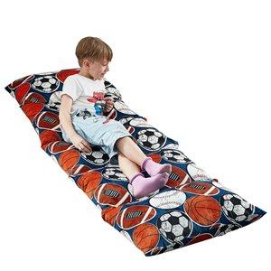 Loungie Floor Pillow Black Bean Bag Chair