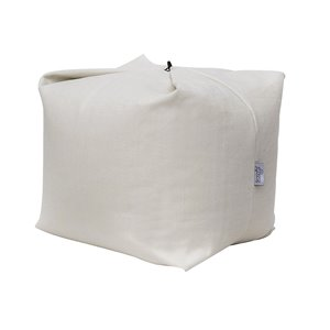 Loungie Magic Pouf in Beige Bean Bag Chair