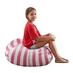 Loungie Pouf Bean Bag Chair in Pink