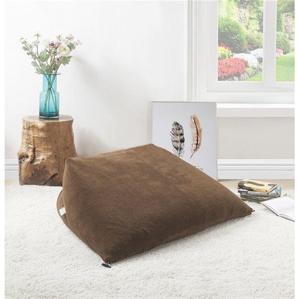 Loungie Magic Pouf Brown Bean Bag Chair